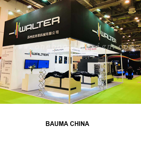 Bauma China trade show booth builder