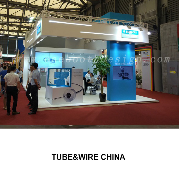 Tube and wire exhibition booth design